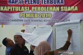 Pleno rekapitulasi surat suara pemilu