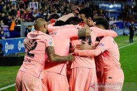 Hasil dan klasemen Liga Spanyol, Barcelona di ambang juara