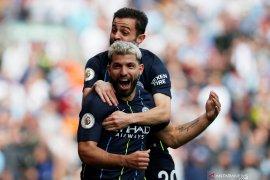 Gol tunggal Aguero ke gawang Burnley, Manchester City geser Liverpool