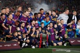 Kalahkan Levante, Barcelona pastikan gelar juara Liga Spanyol