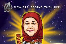 "Demam ""Avangers: Endgame"", Khofifah unggah karikatur ala Captain Marvel"
