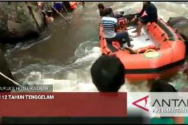 Video - proses evakuasi jasad korban tenggelam di Sungai Suruk