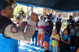 Tagana Lampung beri layanan psikososial korban banjir Bengkulu