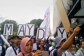 Hadiri Hari Buruh, Prabowo dielu-elukan sebagai presiden