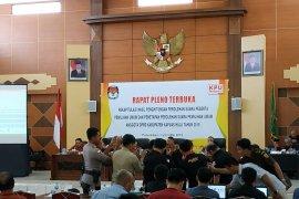 Hasil sementara Rapat Pleno terbuka KPU Kabupaten Kapuas Hulu