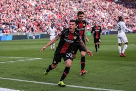 Leverkusen hantam tamunya Frankfurt 6-1 dan buka peluang ke Liga Champions