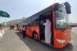 Seluruh jamaah haji Indonesia mendapatkan layanan bus shalawat