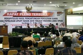 Jokowi-Kiai Ma'ruf unggul di 14 daerah usai penghitungan 15 daerah di Jatim