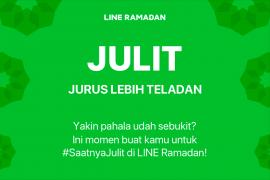 LINE kenalkan fitur Ramadan dari Julit hingga Baper