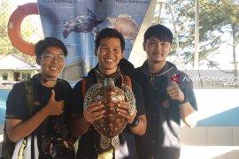 Tiga mahasiswa Thailand belajar konservasi penyu di Bengkulu