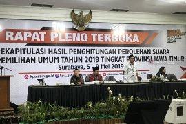 Pleno rekapitulasi Pemilu 2019  Provinsi Jatim molor (Video)