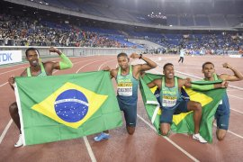 Brazil kejutkan AS di final 4x100m kejuaraan dunia estafet