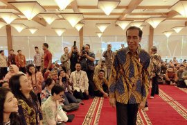 Presiden Jokowi buka puasa bersama para wartawan