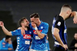 Napoli persulit Inter Milan masuk Liga Champions