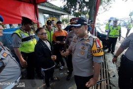 Aparat keamanan gabungan Sukabumi amankan puluhan peserta aksi 22 Mei