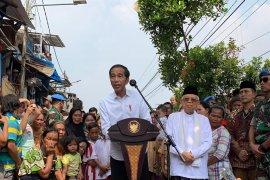 Capres Jokowi umumkan kemenangan wujudkan amanah melalui pemerataan program