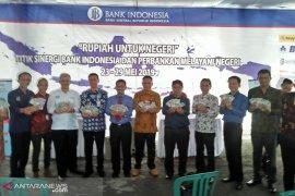 Penukaran uang pecahan dilayani di depan RS Kota Bengkulu