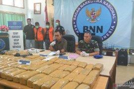 BNN Jambi  ungkap pengiriman 74 Kg ganja yang libatkan oknum TNI