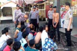 Polsek Banjarmasin Timur amankan puluhan anak mabuk lem