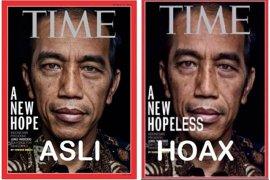 Hoaks, unggahan cover media asing soroti penanganan kericuhan 21 Mei