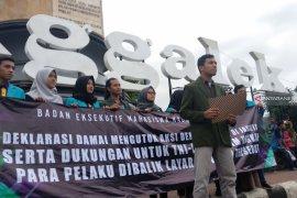 BEM Trenggalek aksi damai kutuk kericuhan 22 Mei di Jakarta