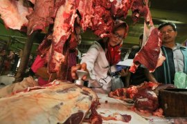 Satgas pangan Polda Jambi sidak harga daging