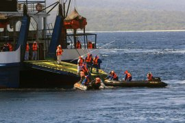 Simulasi pengamanan mudik Selat Bali