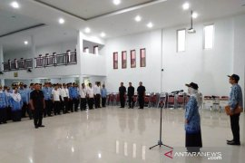 Polbangtan Medan upacara Harlah Pancasila di aula