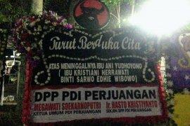 Megawati kirim karangan bunga duka cita untuk  Ani Yudhoyono