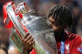 Divock Origi masuk daftar pemain pengganti cetak gol di final Liga Champions
