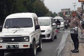 H-3 Lebaran belum ada lonjakan volume kendaraan di jalur mudik Sukabumi