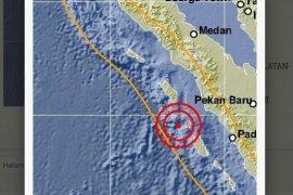 Sibolga-Tapteng diguncang gempa empat kali hari ini