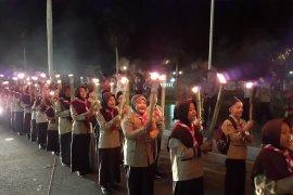 Ratusan kendaraan ramaikan pawai takbiran di Padang