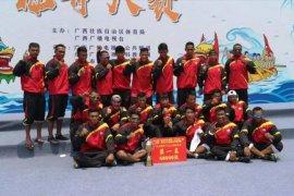 Tim perahu naga Indonesia juara umum China-ASEAN