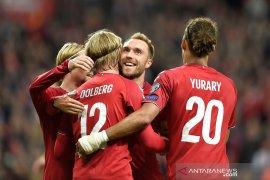 Denmark dan Irlandia petik kemenangan di Grup D kualifikasi Piala Eropa 2020