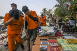 Polisi sita 37 kg narkoba dengan kemasan teh dari kapal pesiar Malaysia