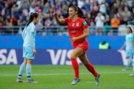 Morgan bela selebrasi timnas AS usai bantai Thailand 13-0
