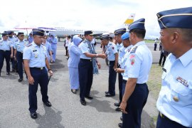 Kasau kunker ke Lanud Leo Wattimena di Morotai