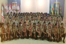 Kakwarda Lampung Lepas Peserta Jambore Thailand