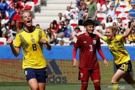 Swedia lolos babak 16 besar di Piala Dunia Putri setelah kalahkan Thailand 5-1