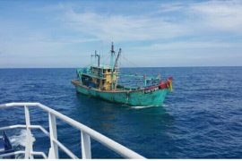 Malaysian ship impounded in Malacca Straits for illegal fishing