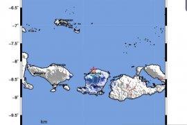 Gempa bumi magnitudo 4,3 guncang  Lombok Utara