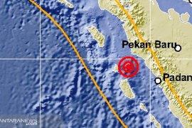 Malam ini, gempa guncang Sumatera Barat