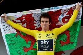 Juara Tour de France Geraint ambruk di balapan Swiss
