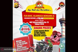 HUT Bhayangkara ke-73, Polda Bengkulu gelar fun bike berhadiah umroh
