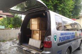 15 peti janazah untuk korban kebakaran pabrik mancis tiba di RS Bhayangkara Medan