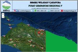 Gempa bumi 4,8 SR guncang  Kabupaten Jayapura