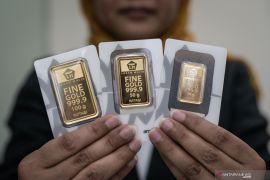 Harga emas Antam merangkak naik Rp1.000/gram