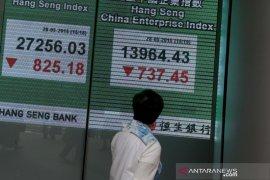 Pasar saham China turun tajam