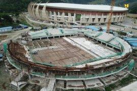Progres pembangunan empat arena PON XX lebih cepat